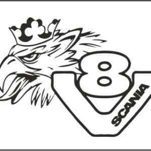 Scania Logo Graphic Sticker Made From Quality Vinyl